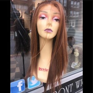 Accessories - Copper brown wig long silky lacefront Freepart wig